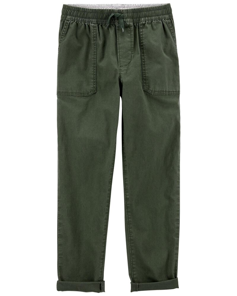 Pull-on Stretch Canvas Pants, , hi-res