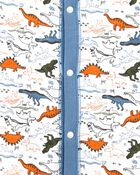 1-Piece Dinosaur 100% Snug Fit Cotton Footless PJs, , hi-res