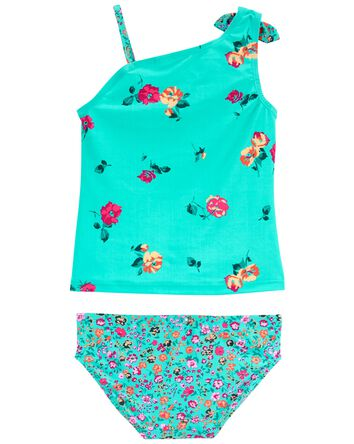 Floral One-Shoulder Tankini
