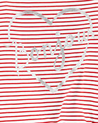 Striped Tie-Front Jersey Tee, , hi-res