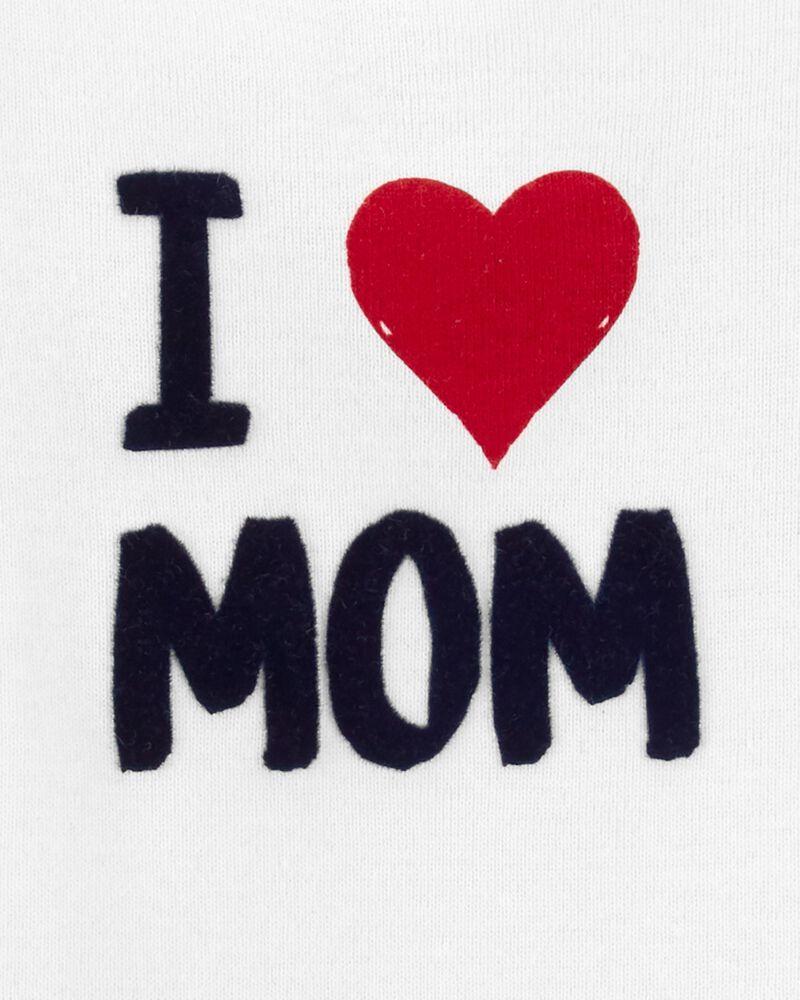 I Love Mom Bodysuit, , hi-res