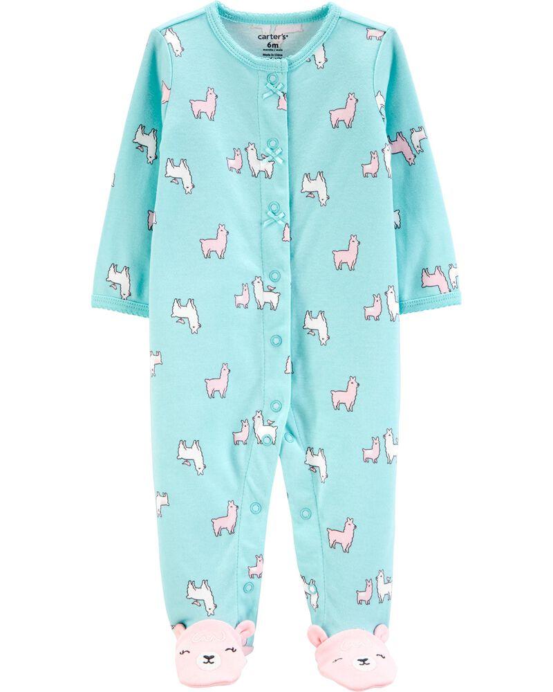Llama Snap-Up Cotton Cotton Sleep & Play, , hi-res