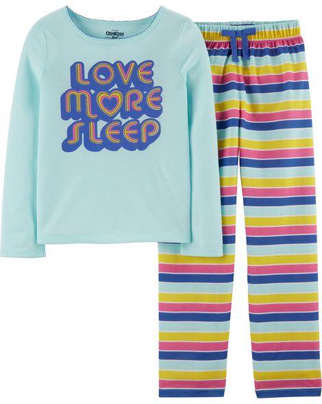 2-Piece Love More Sleep PJs
