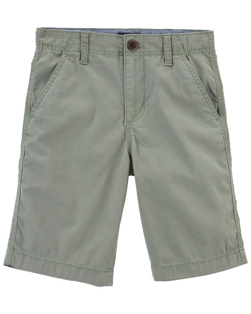 Short en coutil extensible, , hi-res