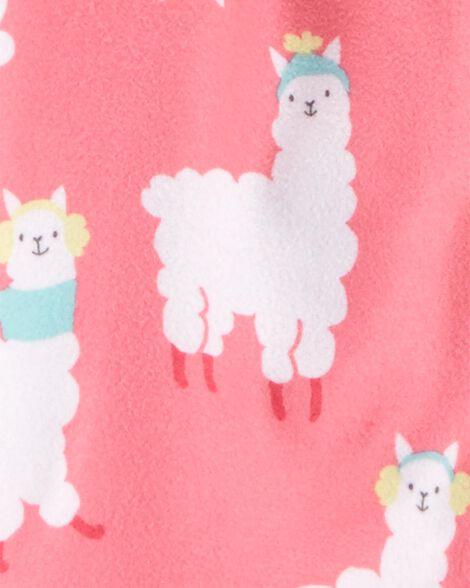 2-Piece Llama Coat Style Fleece PJs