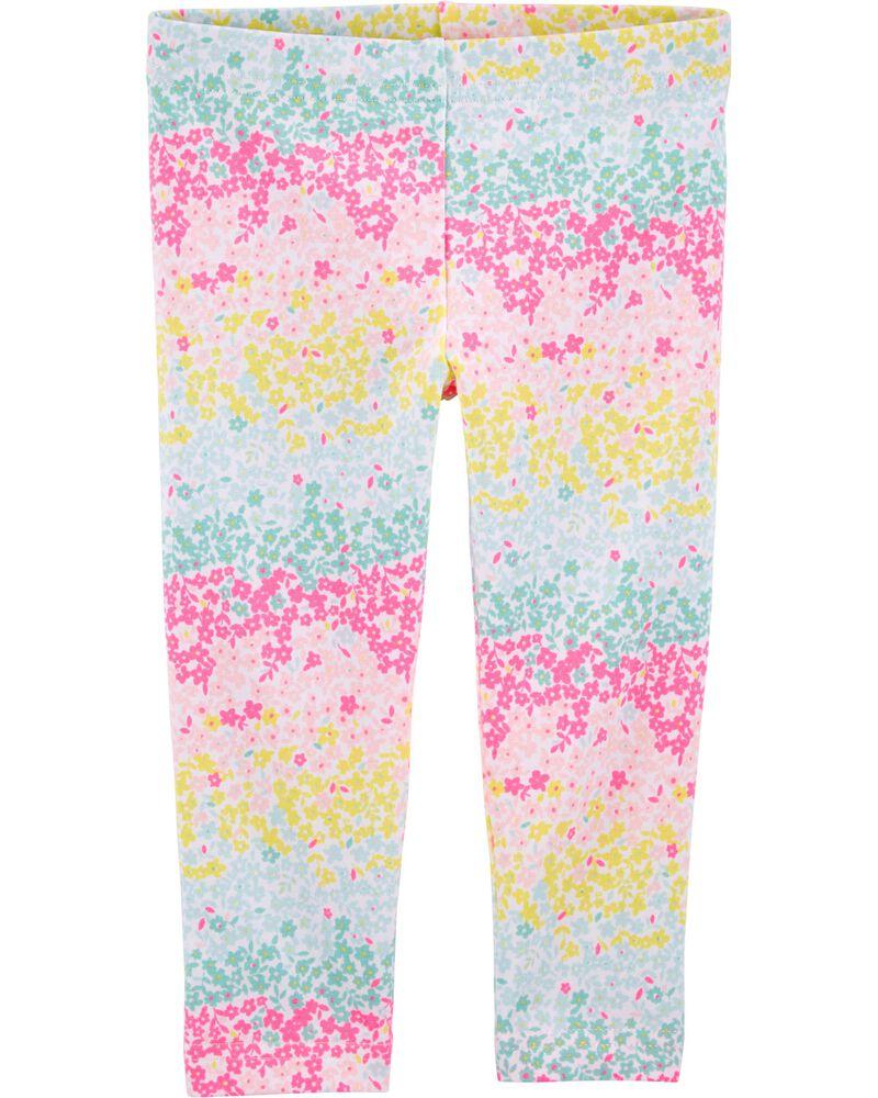 Legging capri fleuri, , hi-res