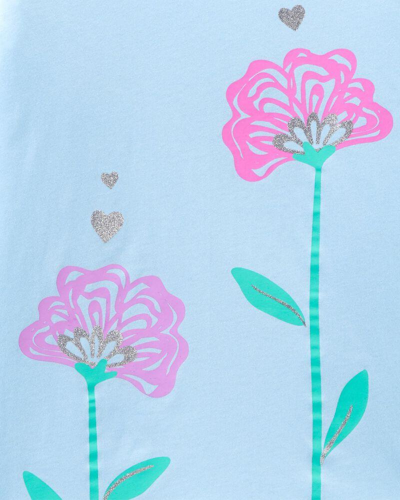 Glitter Flower Jersey Tee, , hi-res