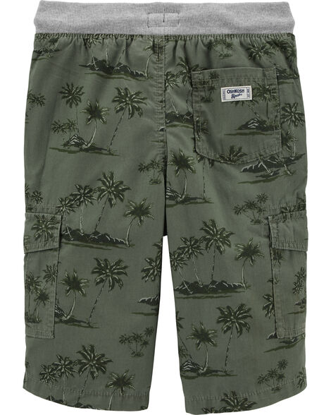 Pull-On Dinosaur Cargo Shorts