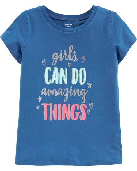 T-shirt à slogan scintillant