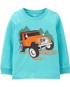 Truck Peek-A-Boo Snow Yarn Tee, , hi-res