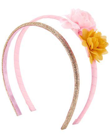 2-Pack Sparkle & Plume Headbands