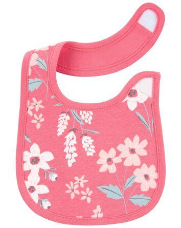 4-Pack Floral Teething Bibs