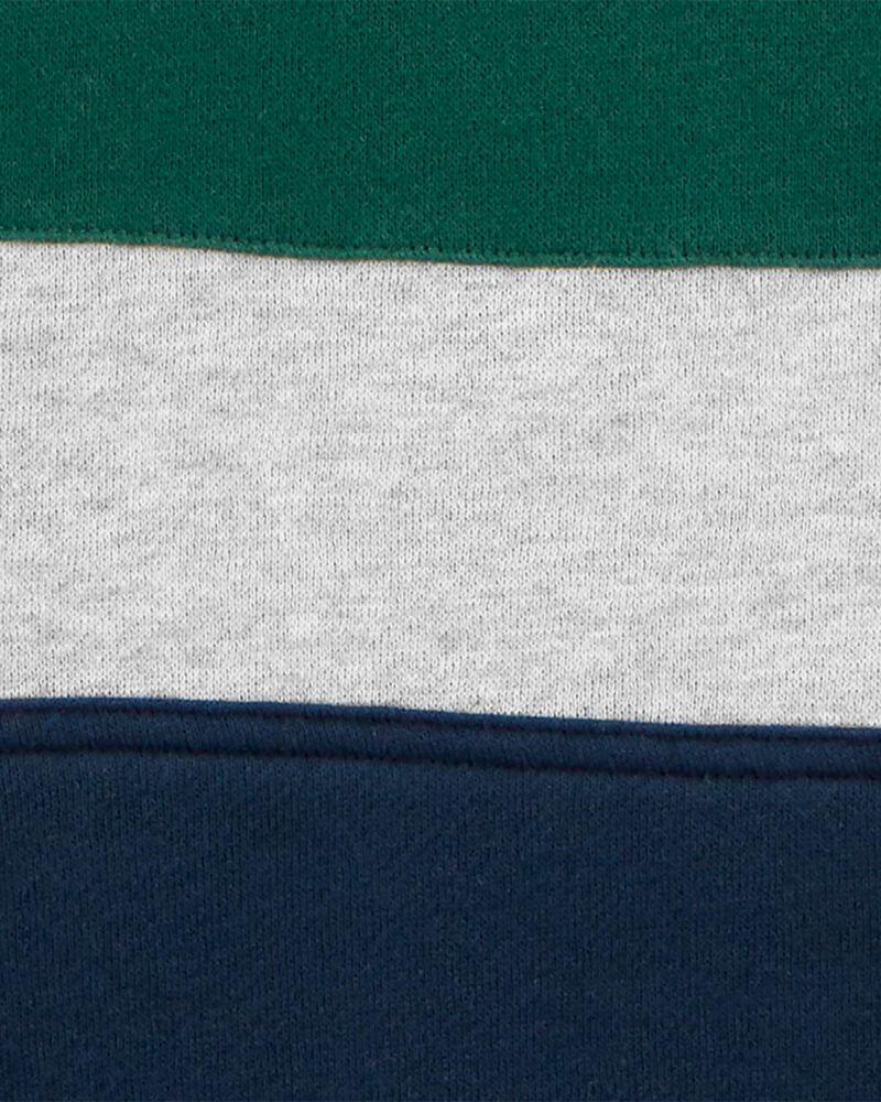 Kangourou en molleton de couleurs contrastantes à logo, , hi-res