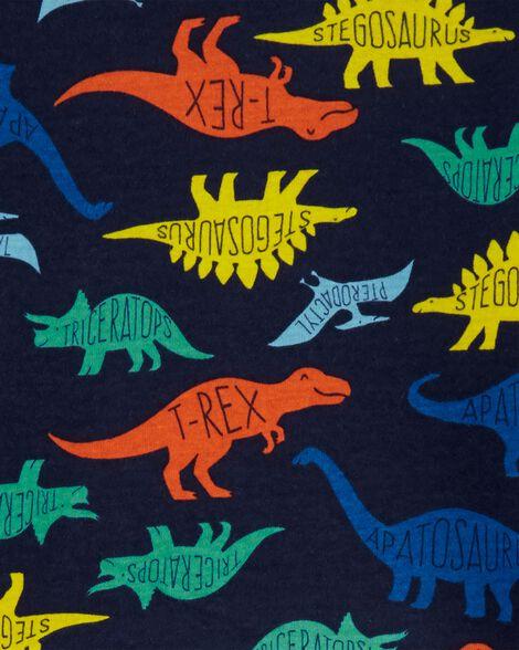 4-Piece Dinosaurs Snug Fit Cotton PJs