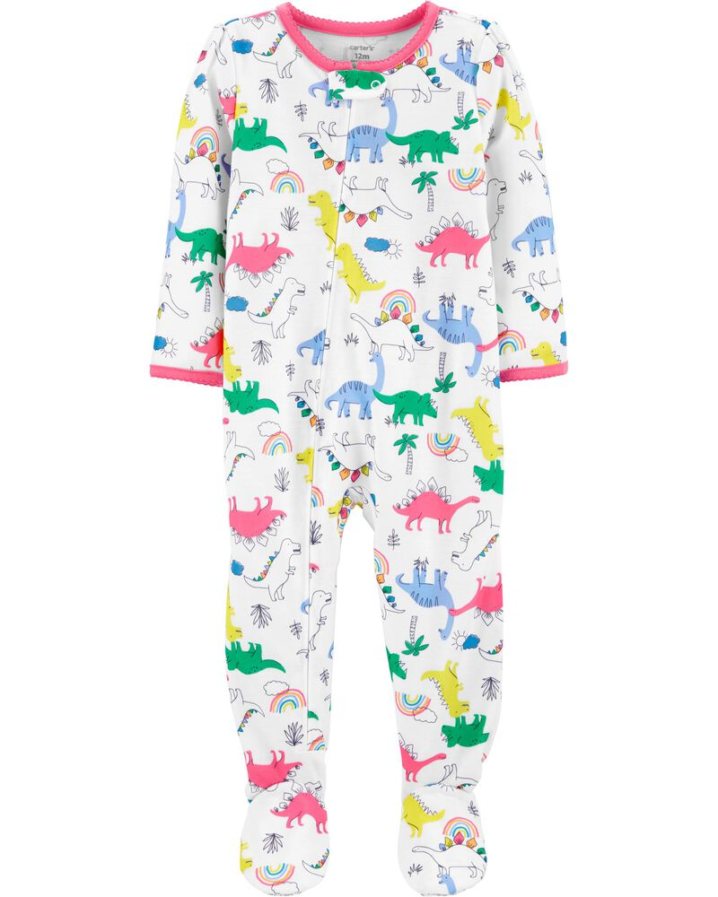 1-Piece Loose Fit Footie PJs, , hi-res
