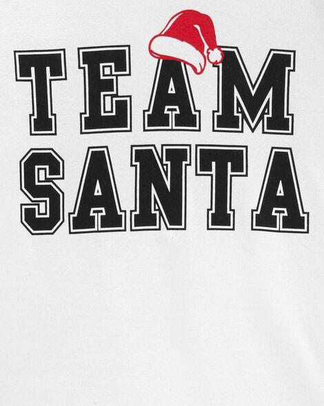 Pyjama 2 pièces en coton ajusté équipe du Père Noël pour adultes