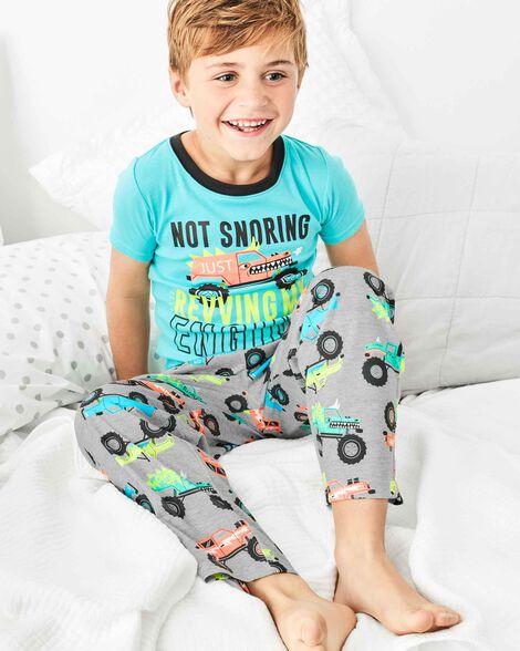 Pyjama 3 pièces en polyester camion monstre