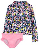 Carter's 2-Piece Floral Rashguard Set, , hi-res