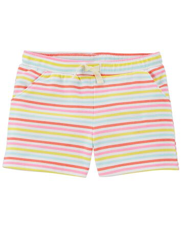 Striped Pull-On Shorts