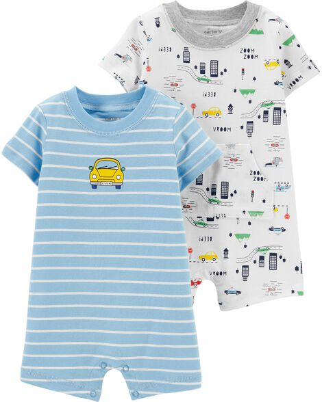 2-Pack Car Rompers
