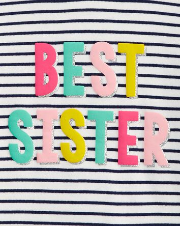 2-Piece Best Sister Hooded Tee & Le...