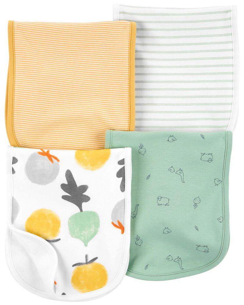 4-Pack Striped Burp Cloths, , hi-res