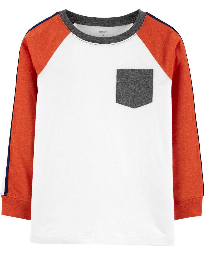 T-shirt à poche et manches raglan, , hi-res