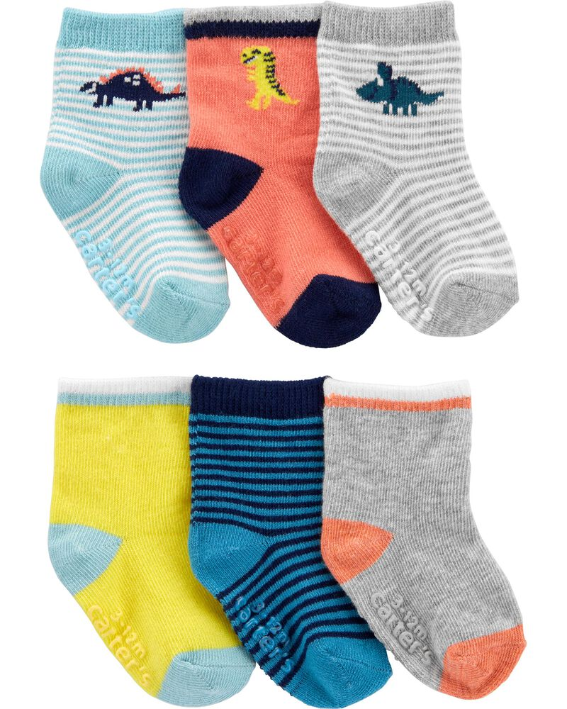 6-Pack Dinosaur Booties, , hi-res