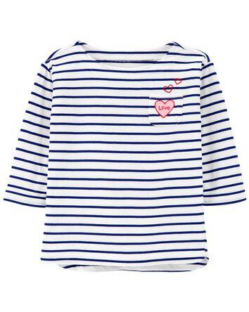 T-shirt à col bateau LOVE