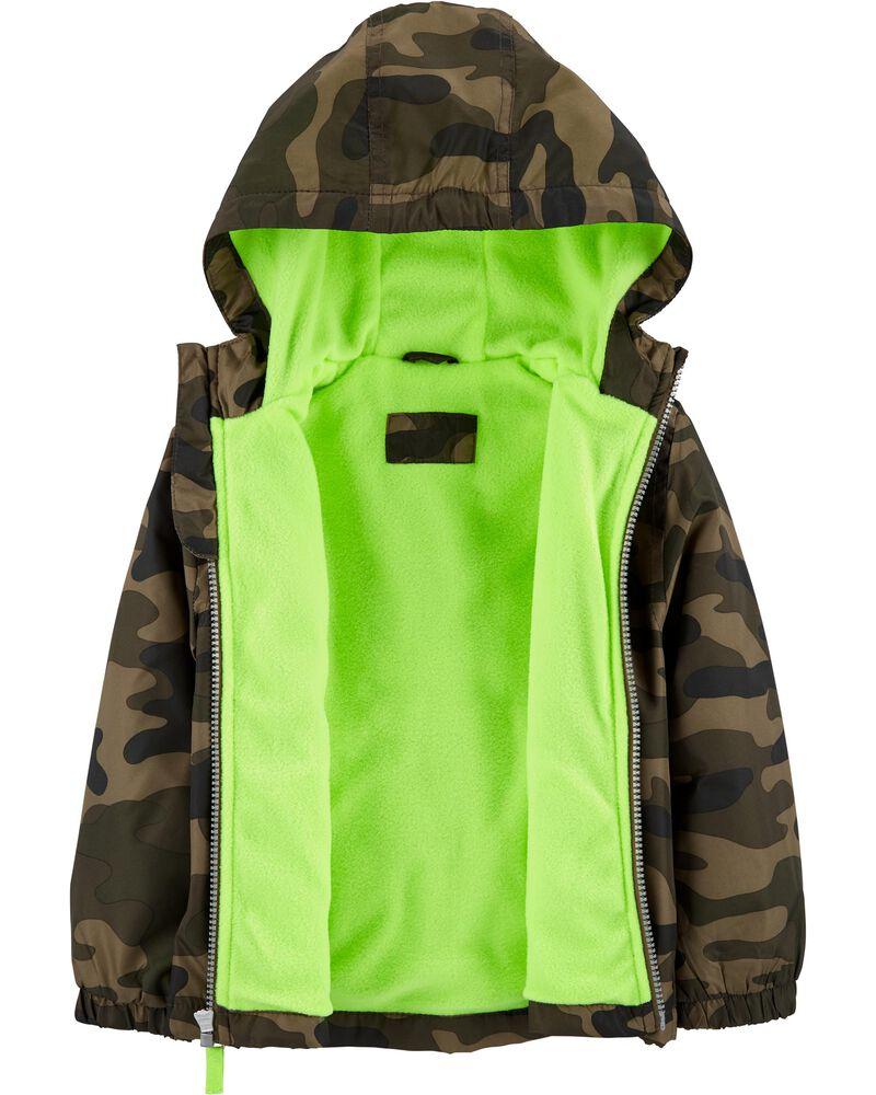 Midweight Camo Print Fleece-Lined Jacket, , hi-res
