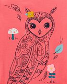 T-shirt en jersey à hibou, , hi-res