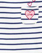 T-shirt à col bateau LOVE, , hi-res