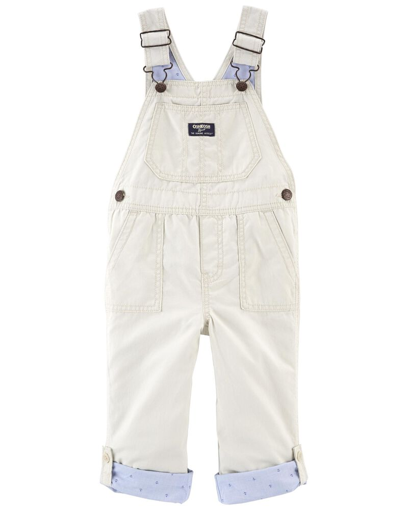 Convertible Canvas Overalls, , hi-res