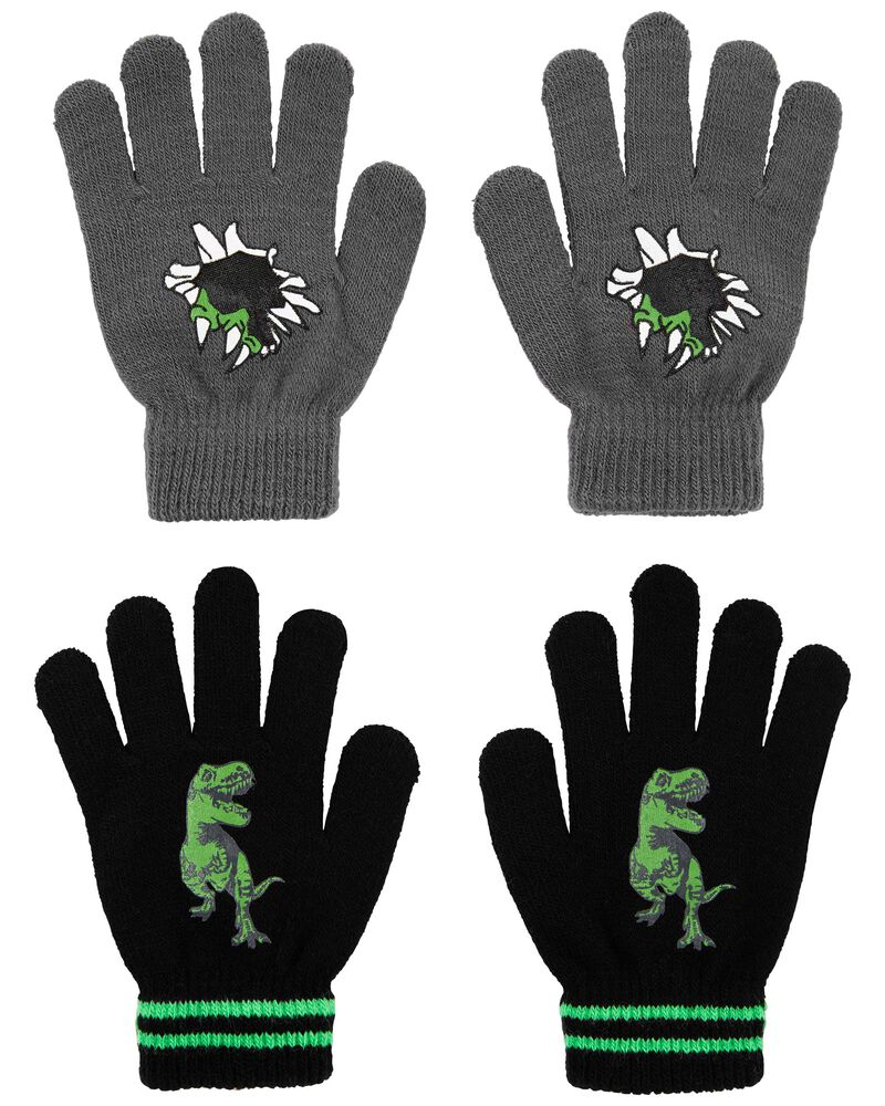 Emballage de 2 paires de mini gants dinosaure KOMBI, , hi-res