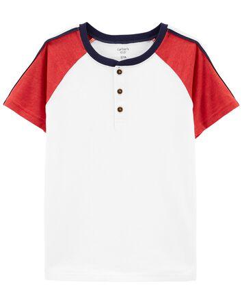 T-shirt henley à manches raglan