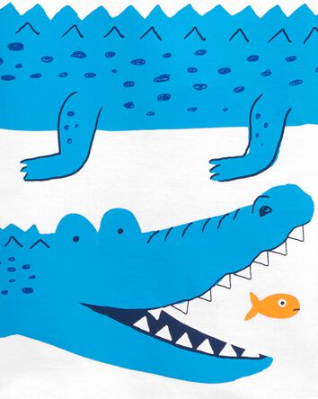 4-Piece Alligator 100% Snug Fit Cot...