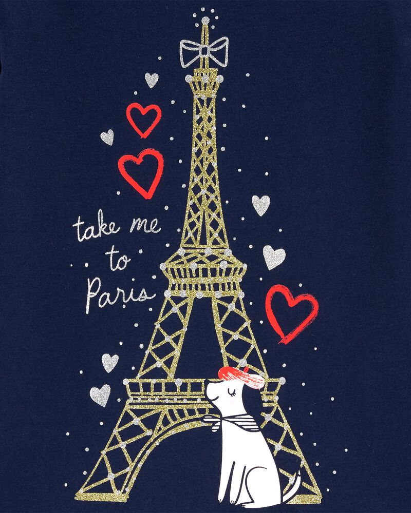 Eiffel Tower Dog Jersey Tee, , hi-res