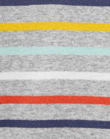 Striped Henley-Style Bodysuit