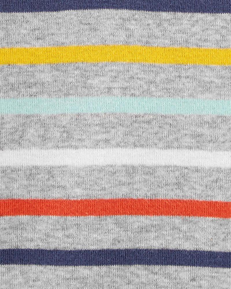 Striped Henley-Style Bodysuit, , hi-res