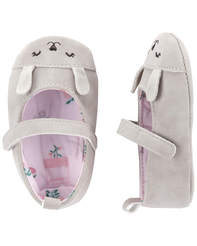 Bunny Mary Jane Baby Shoes , , hi-res