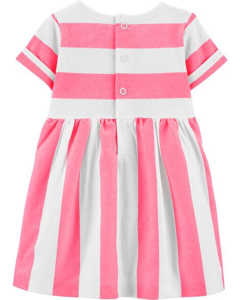 Striped Sea Horse Jersey Dress
