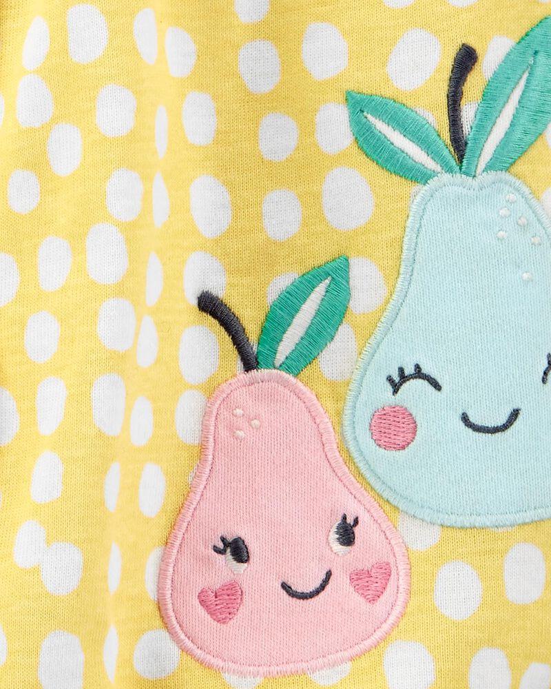 Pear Snap-Up Romper, , hi-res