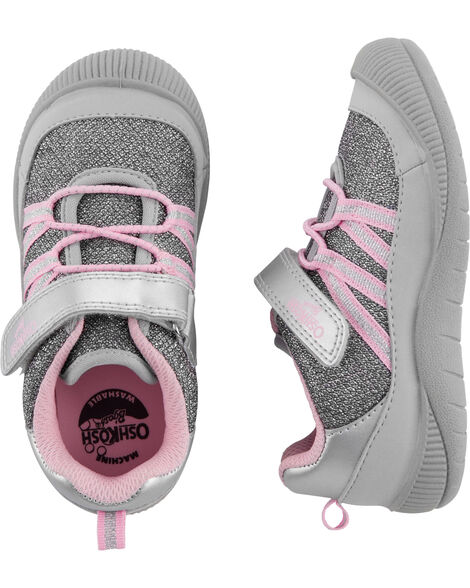 Silver Bump Toe Athletic Sneakers