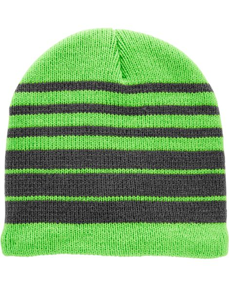 Knit Striped Winter Hat
