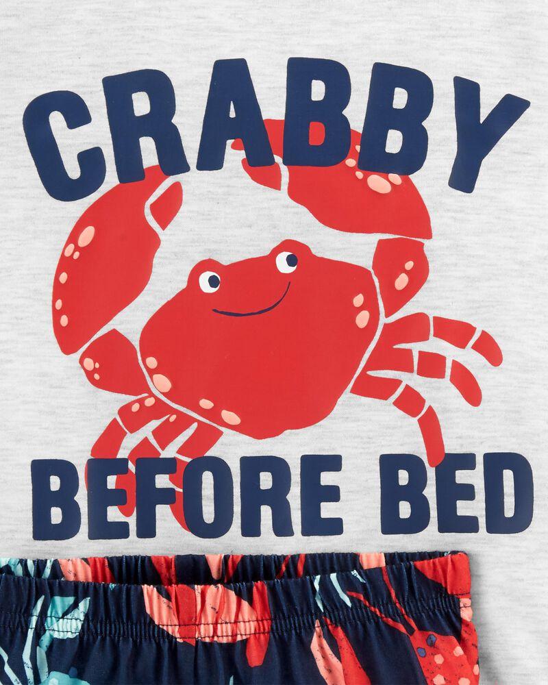 3-Piece Crab Loose Fit PJs, , hi-res