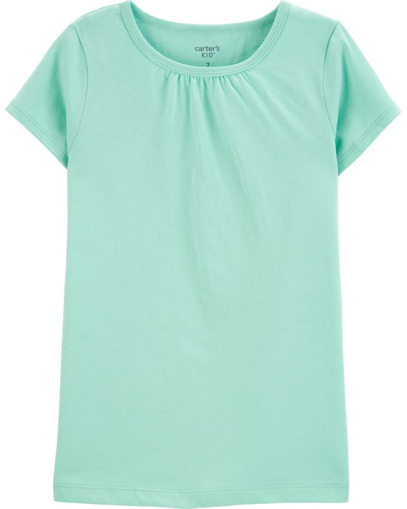 Turquoise Cotton Tee, , hi-res