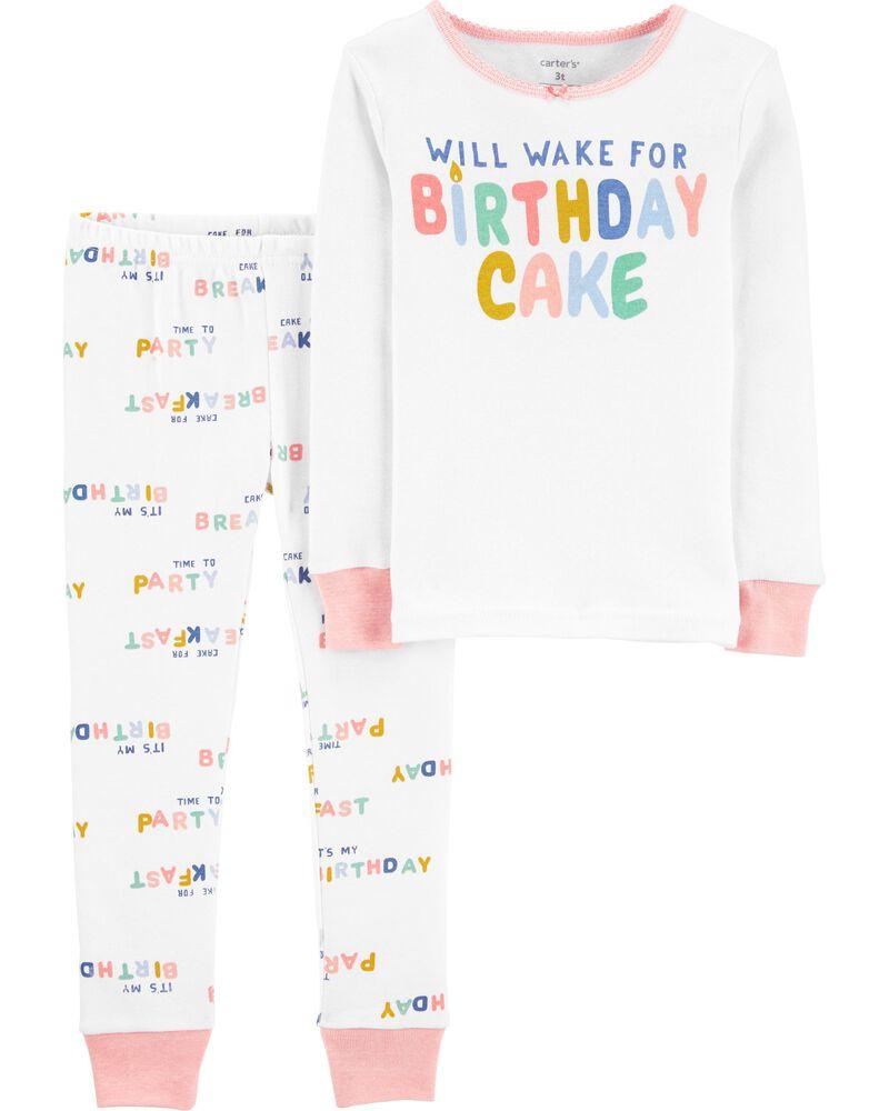 2-Piece Birthday 100% Snug Fit Cotton PJs, , hi-res