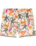 Tropical Crinkle Jersey Shorts, , hi-res