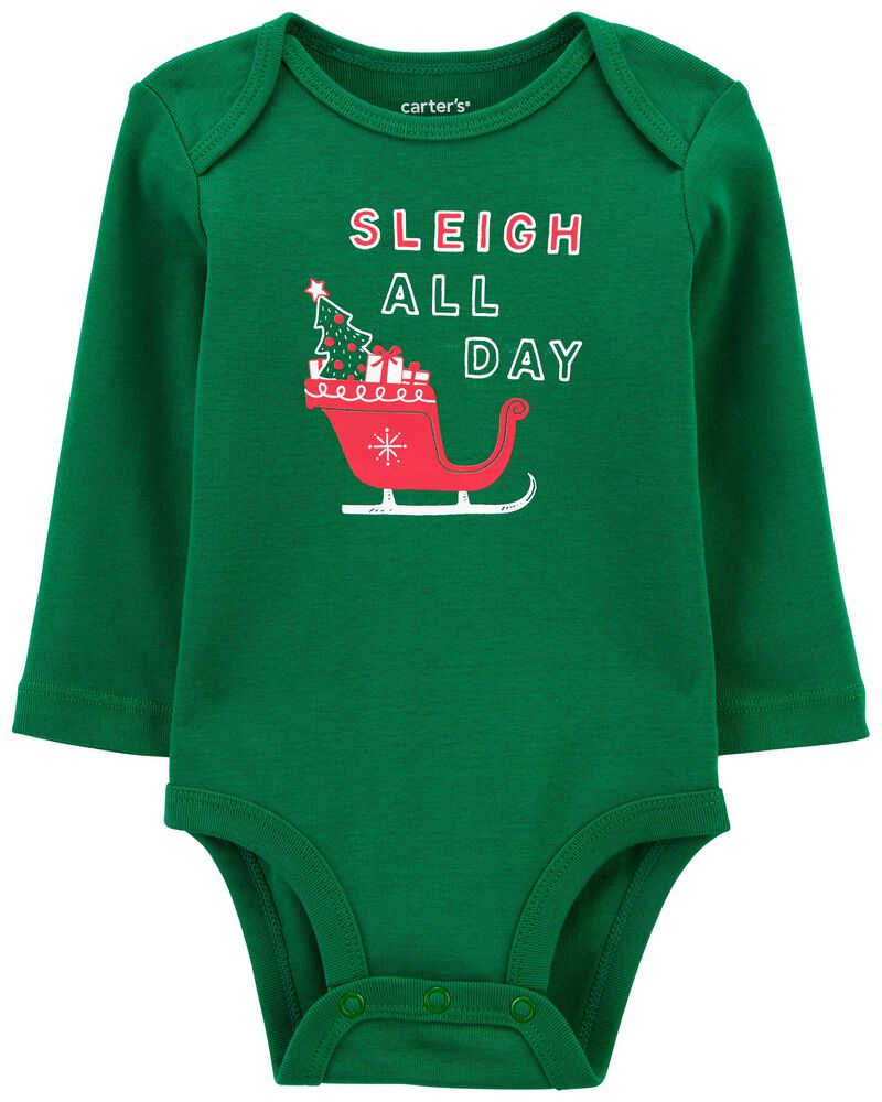 Sleigh All Day Christmas Collectible Bodysuit, , hi-res