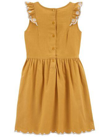Ruffle Linen Dress